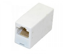 Компьютерный переходник, соединитель витой пары 1 гнездо - 1 гнездо 8р8с