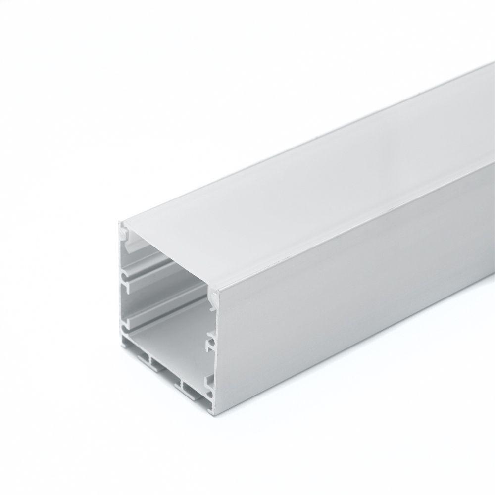 Профиль алюм. накладной Feron CAB256 анод. с рассеивателем для LED ленты 2м серебро 7016