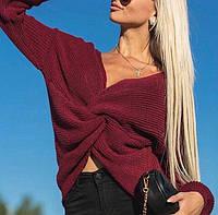 Шикарный двухсторонний свитер с переплётом
