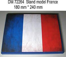 Подставка под модели (тема - Франция).  1/72 DANMODELS DM72264