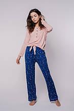 Женская пижама из вискозы в пудрово-синих тонах