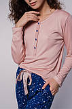 Женская пижама из вискозы в пудрово-синих тонах, фото 3