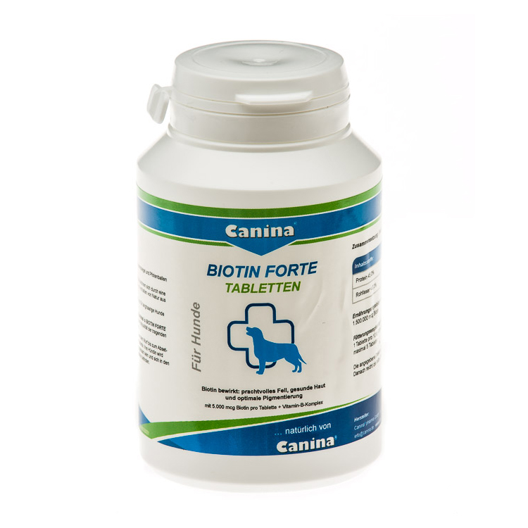 Витамины для собак Canina «Biotin Forte» 60 таблеток, 200 г (для кожи и шерсти)