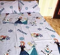 """Детский евро комплект постельного белья """"Холодное сердце"""""""