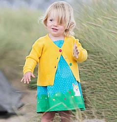 Сарафан для девочки Зайцы на лужайке Little Maven (2 года)