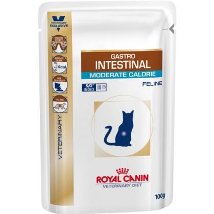 Royal Canin Gastro Intestinal Moderate Calorie Feline 85 гр упаковка 12 шт лечебный влажный корм (Роял Канин)