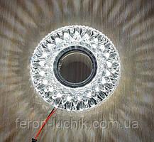 Точечный светильник с LED подсветкой встраиваемый 18117WH