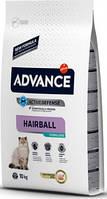 Сухой корм для кошек Advance Cat Sterilized Hairball 10 кг. вывод шерсти у стерилизованных кошек, с индейкой