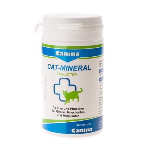 Минеральный комплекс для кошек Canina «Cat-Mineral» 300 таблеток, 150 г