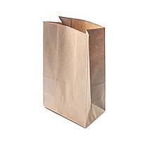 Бумажный крафт пакет с прямоугольным дном 150* 90 * 240 бурый