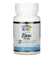 21st CENTURY Zinc chelated, 50 mg ( 60 таблеток), фото 1