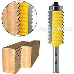 Фреза для зрощування деревини (мікрошип) по ширині по дереву VOLFIX FZ-120-513 d8