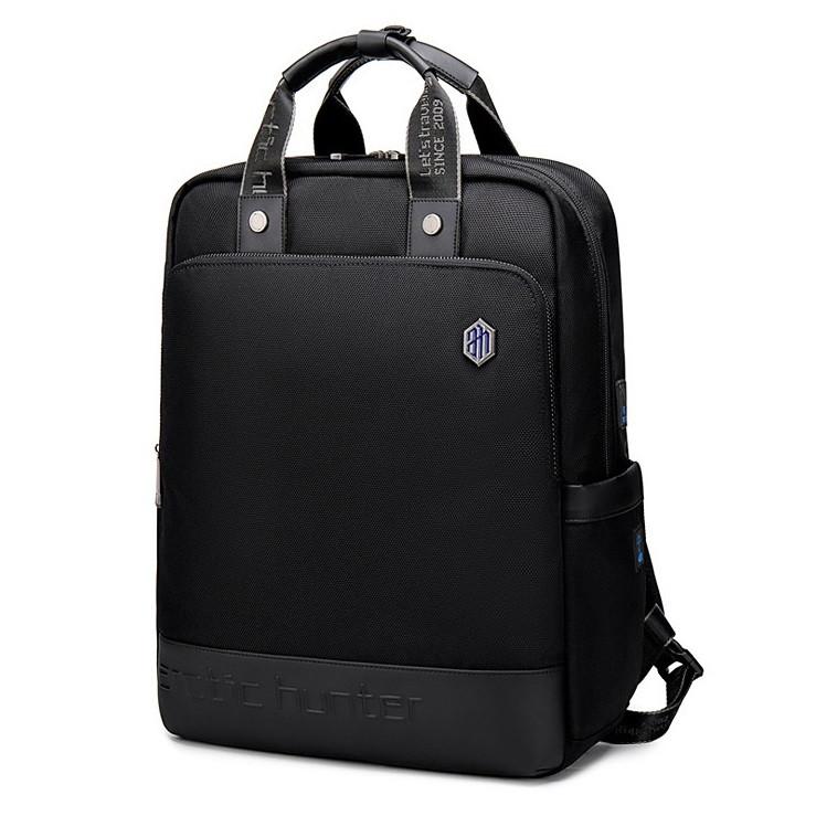 """Деловая сумка-рюкзак 2в1 Arctic Hunter B00398, для ноутбука до 15,6"""" из водоотталкивающей ткани, 20л"""