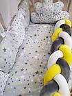 Комплект постельного Коса  в кроватку + крепление  для балдахина( 9предметов), фото 6