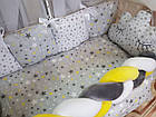 Комплект постельного Коса  в кроватку + крепление  для балдахина( 9предметов), фото 3