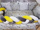 Комплект постельного Коса  в кроватку + крепление  для балдахина( 9предметов), фото 2