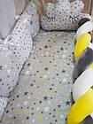 Комплект постельного Коса  в кроватку + крепление  для балдахина( 9предметов), фото 7