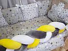 Комплект постельного Коса  в кроватку + крепление  для балдахина( 9предметов), фото 5