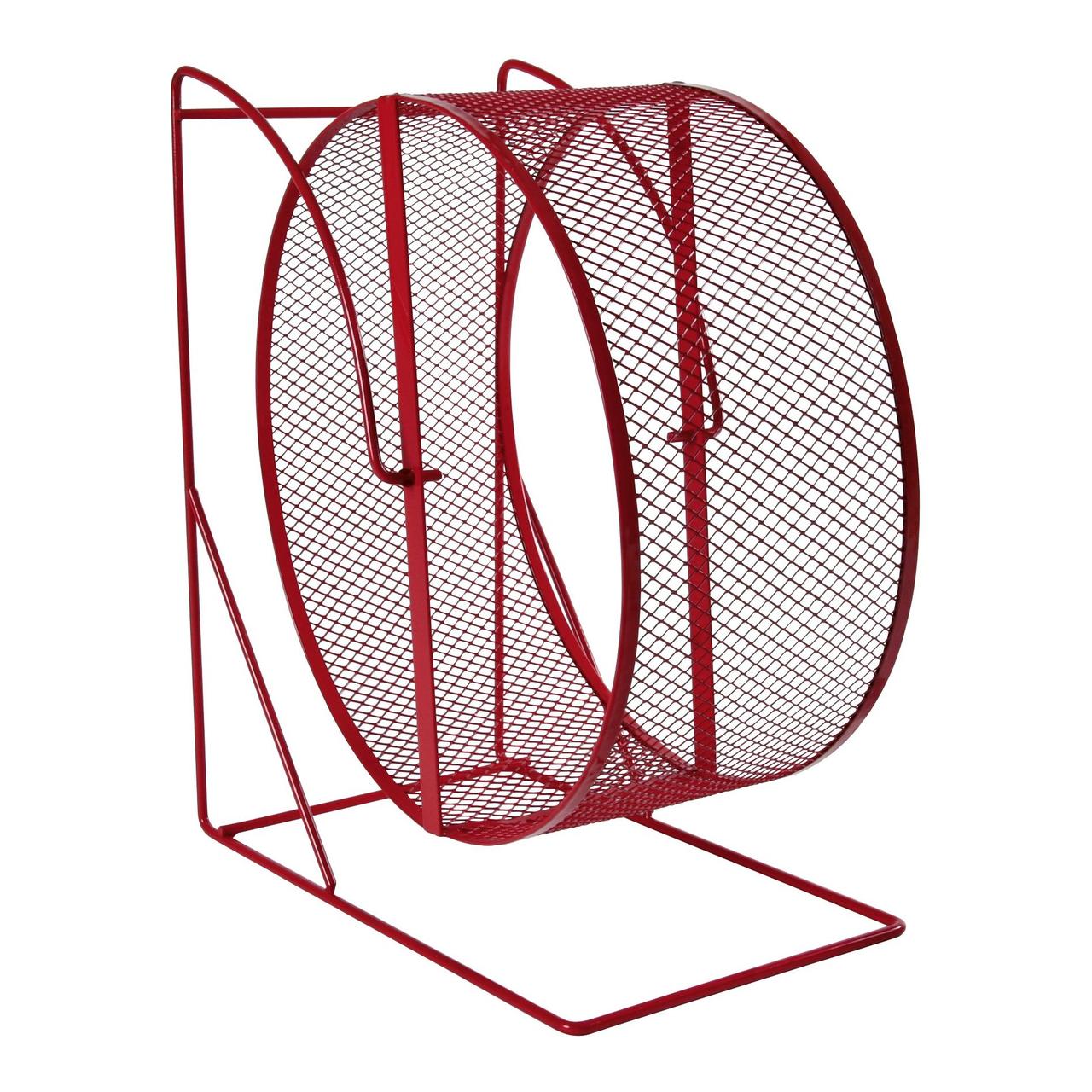 Беговое колесо для грызунов Trixie на подставке d=28 см (металл)