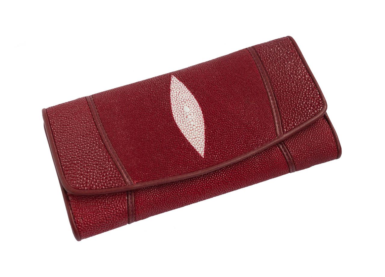 Кошелек из кожи ската Ekzotic leather Красный (stw 20_1)