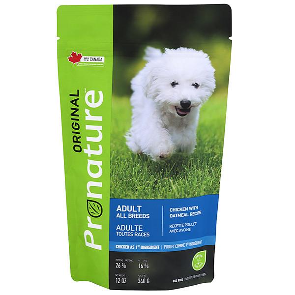 Pronature Original Adult Chicken ПРОНАТЮР ОРИДЖИНАЛ КУРИЦА корм для собак  0.34 кг