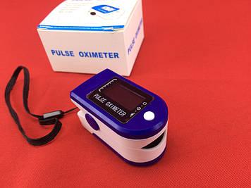 Пульсоксиметр LYG-88 на палец с поворотным дисплеем (пульсометр)