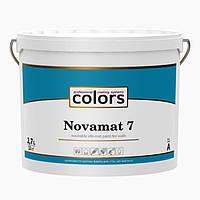Краска интерьерная шелковисто-матовая стойкая к мытью белая Novamat 7 база А  2.7л