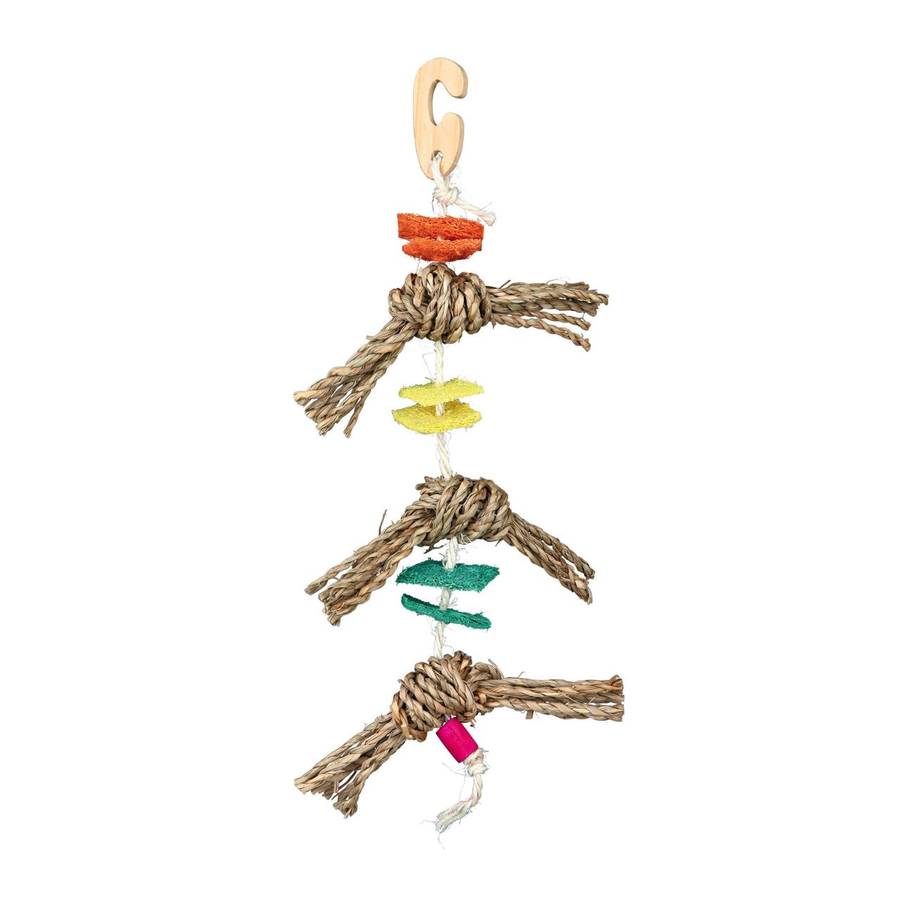Игрушка для птиц Trixie подвесная 43 см (натуральные материалы)