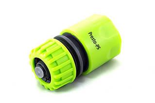 Конектор Presto-PS для шланга 1/2-5/8 дюйма з аквастопом (5810G)