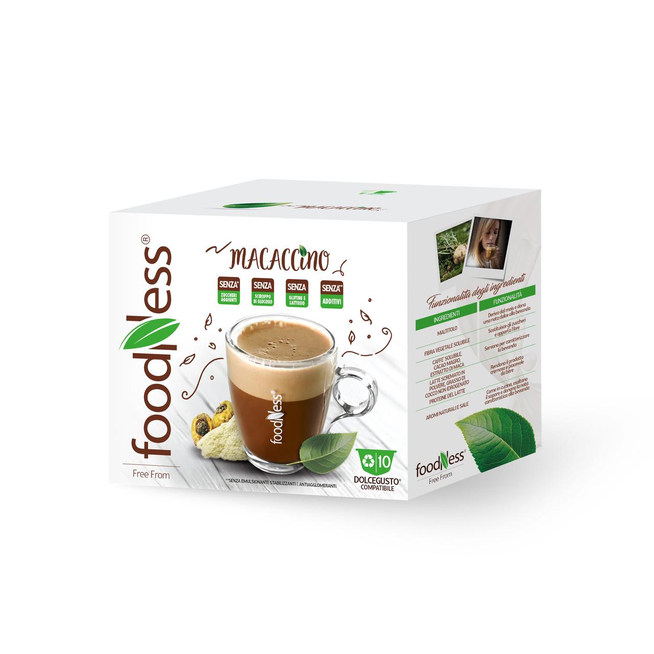 Кофе в капсулах FoodNess Dolce Gusto Macaccino with Maca 10 шт. (Фуднес Дольче Густо), Италия