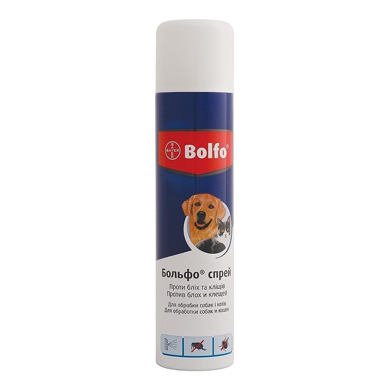 Спрей для кошек и собак Bayer «Bolfo» (Больфо) 250 мл (от внешних паразитов)