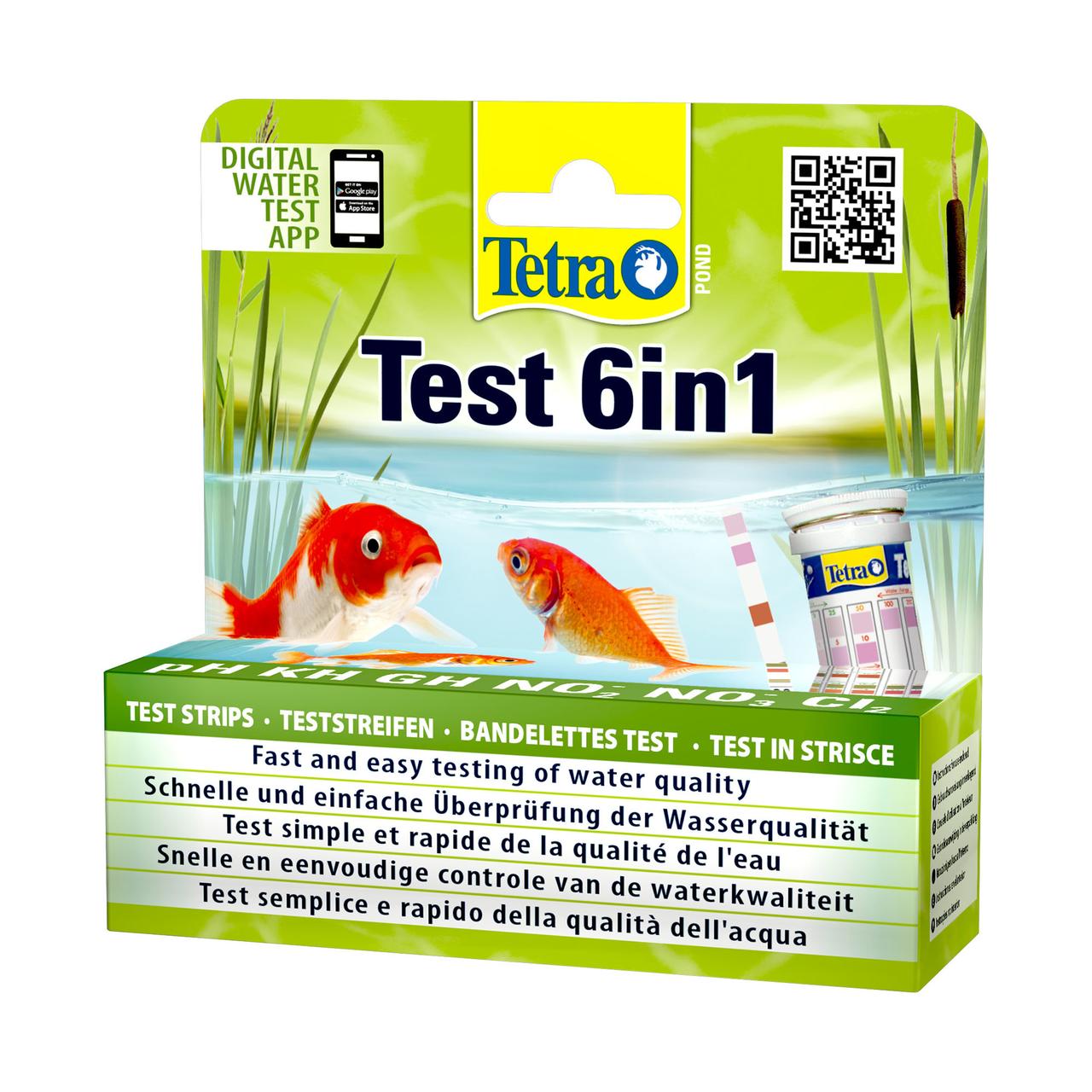 Набор индикаторных тестов для воды Tetra Pond «Test 6in1»