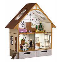 Кукольный Экодом для Барби с мебелью и декором