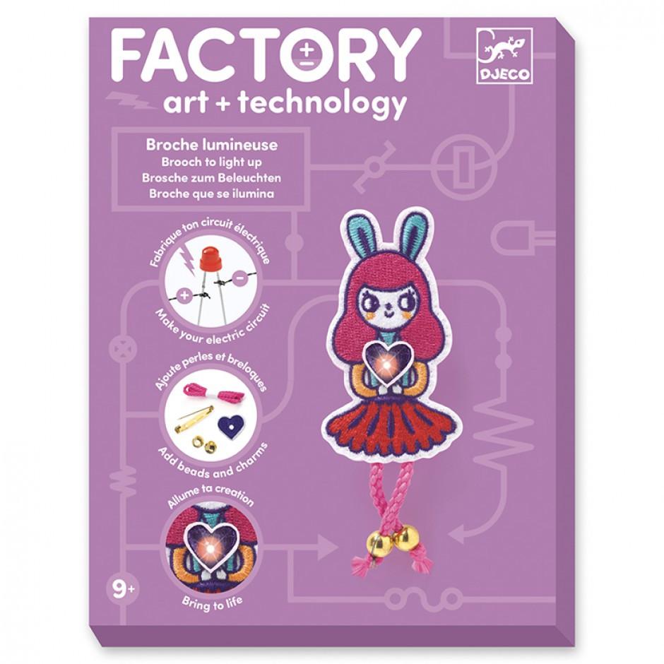 """Набір для творчості  DJECO """"Брошка Bunny Girl Factory E-text"""" (DJ09320)"""