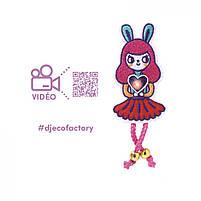 """Набір для творчості  DJECO """"Брошка Bunny Girl Factory E-text"""" (DJ09320), фото 2"""