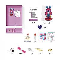"""Набір для творчості  DJECO """"Брошка Bunny Girl Factory E-text"""" (DJ09320), фото 3"""