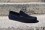 Замшеві Мокасини Prime shoes сині, фото 2