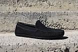 Замшеві Мокасини Prime shoes сині, фото 3