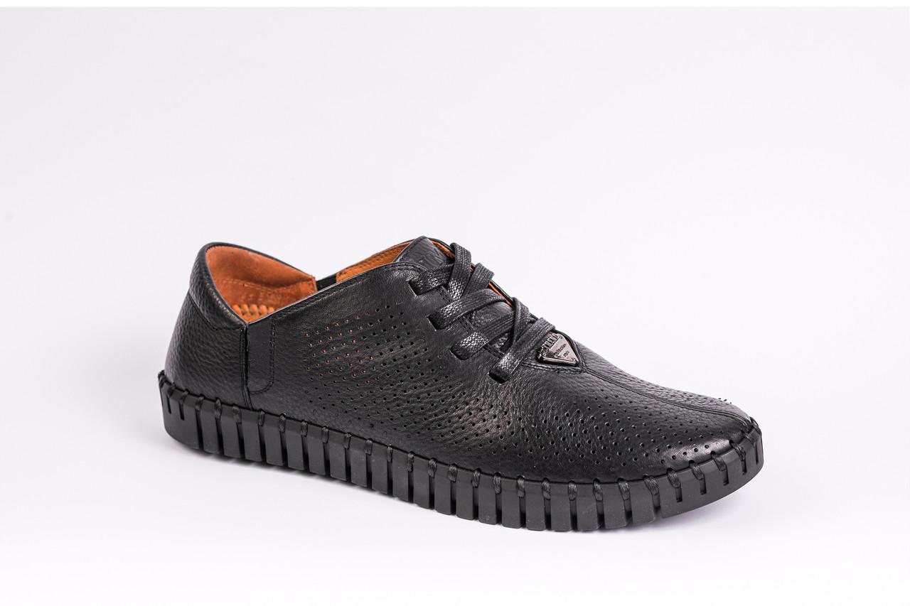 Шкіряні Мокасини Prime Shoes чорні