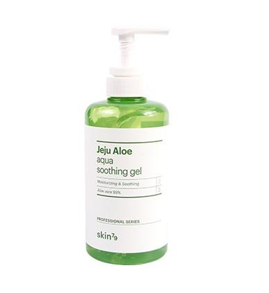 Универсальный гель c алоэ Skin79 Jeju Aloe Aqua Soothing Gel (Pump) 500ml (Потёртая упаковка!)