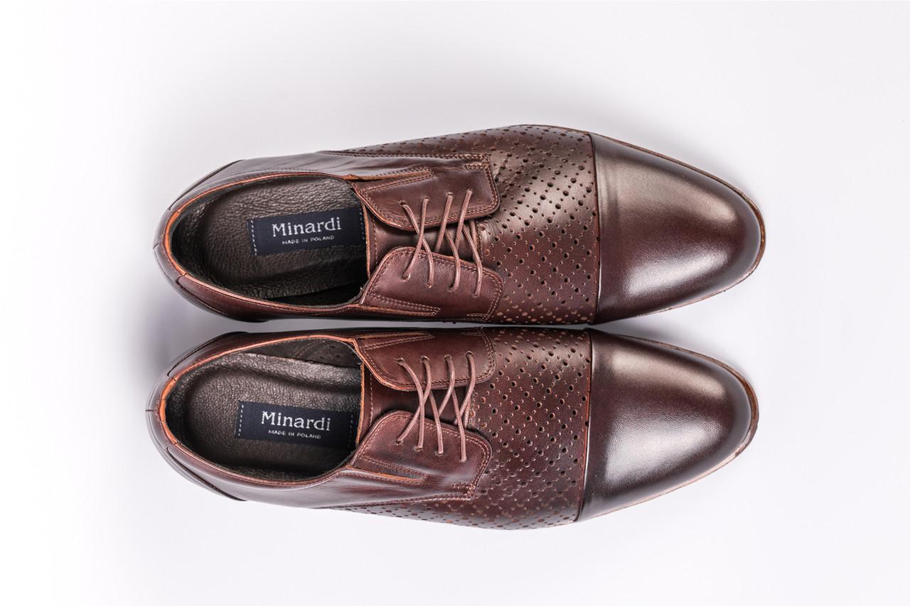 Туфлі літні Minardi коричневі