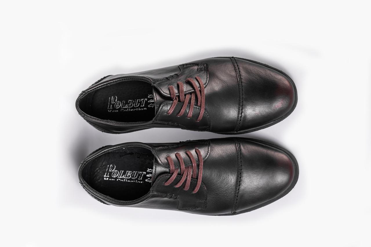 Туфлі темно-коричневі Polbut
