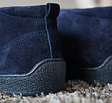 Замшеві черевики Safari сині, фото 3