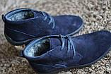 Замшеві черевики Safari сині, фото 4