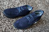 Замшеві черевики Safari сині, фото 5