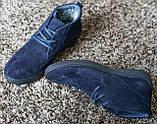 Замшеві черевики Safari сині, фото 6