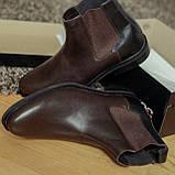Черевики чоловічі коричневі челсі, фото 4