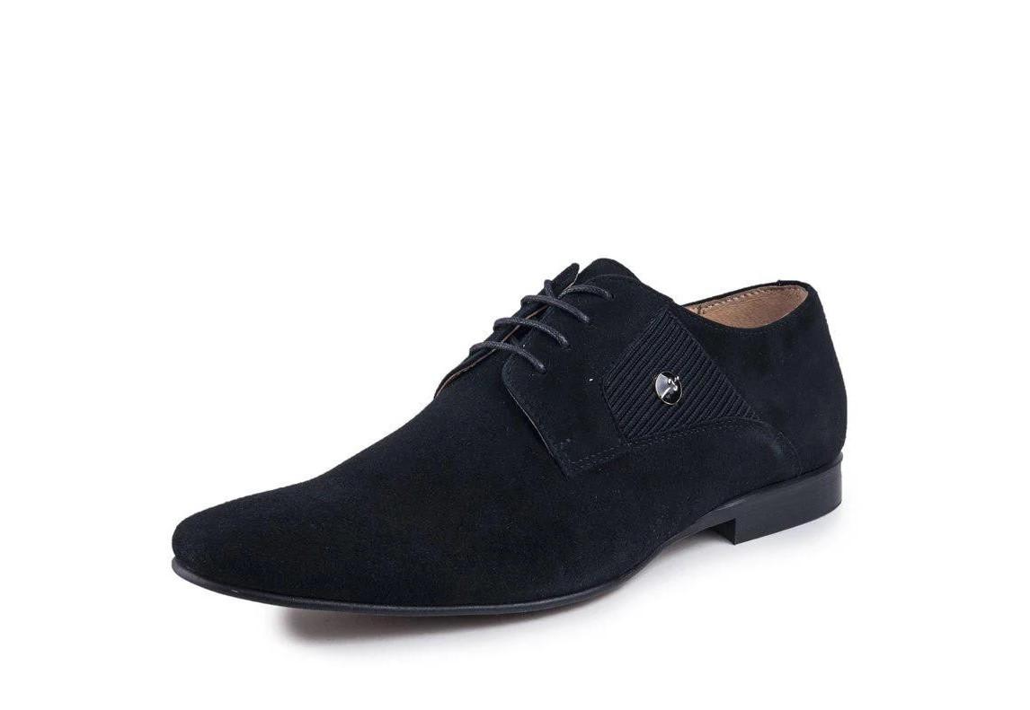 Туфлі замшеві, чорні.