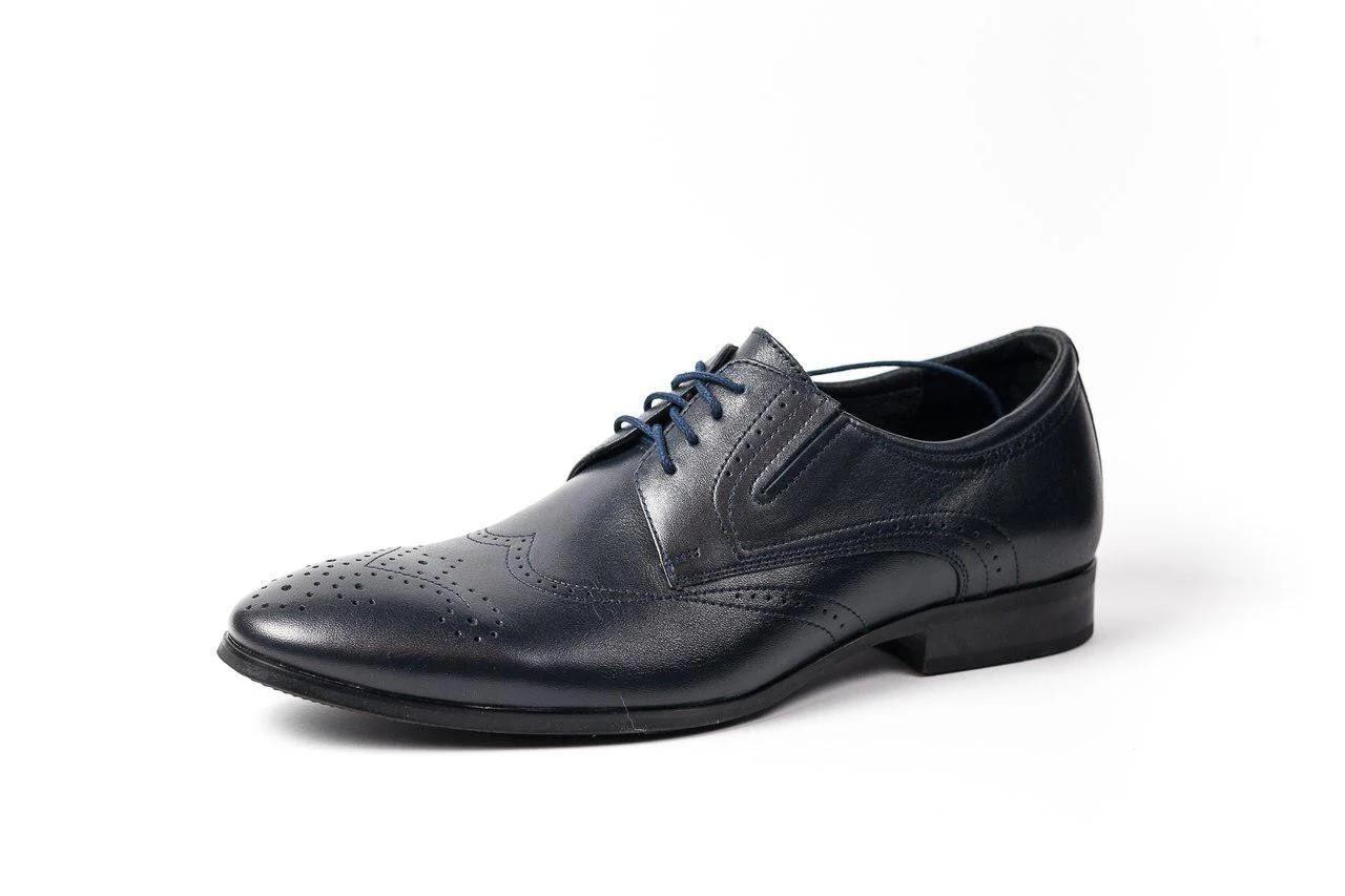 Туфлі дербі, сині.