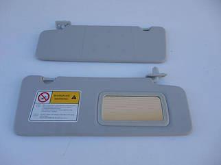 Козырек солнцезащитный ВАЗ 2170 (жесткий с зеркалом) (к-кт 2 шт)